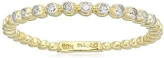 10k Gold White Diamond Ring