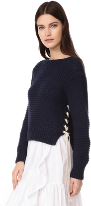 Ulla Johnson Ellion Pullover $299 thestylecure.com