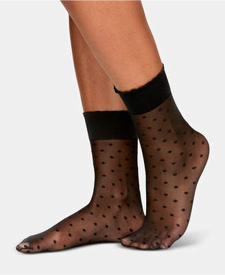Berkshire Sheer Dots Anklet Socks
