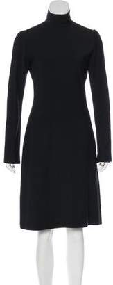 Burberry Long Sleeve Midi Dress