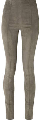 The Row Hailen Suede Leggings - Brown