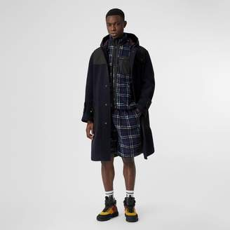 Burberry Vintage Check Faux Shearling Drawcord Shorts