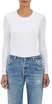 ATM Anthony Thomas Melillo Women's Rib-Knit Long-Sleeve Bodysuit - White
