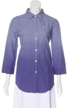 Elizabeth and James Long-Sleeve Patterned Blouse