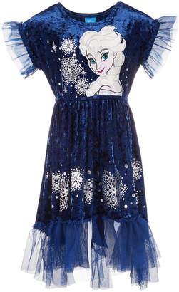 Disney Toddler Girls Elsa Frozen Crushed-Velvet Dress