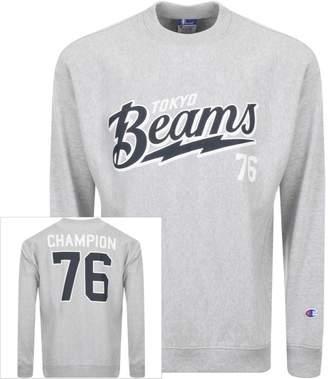 Champion X Beams Logo Sweatshirt Grey