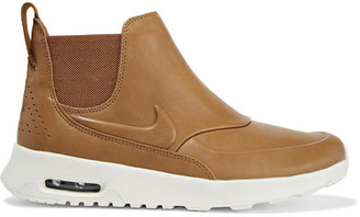 Nike - Air Max Thea Leather Slip-on Sneakers - Tan $140 thestylecure.com