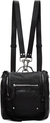 McQ Alexander McQueen Black Mini Convertible Box Backpack $570 thestylecure.com