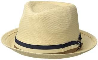 San Diego Hat Company Toyo Fedora w/ Stripe Bow Caps