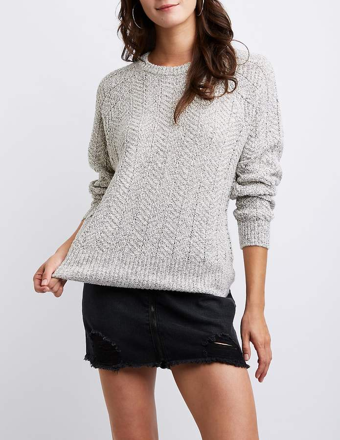 Charlotte Russe Crew Neck Pullover Sweater