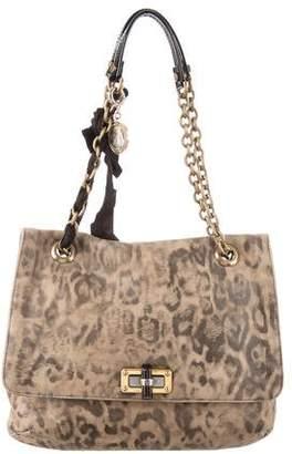 Lanvin Leopard Print Happy Bag