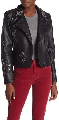 Blank NYC BLANKNYC Denim Embellished Moto Jacket