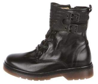 Armani Junior Boys' Leather High-Top Boots