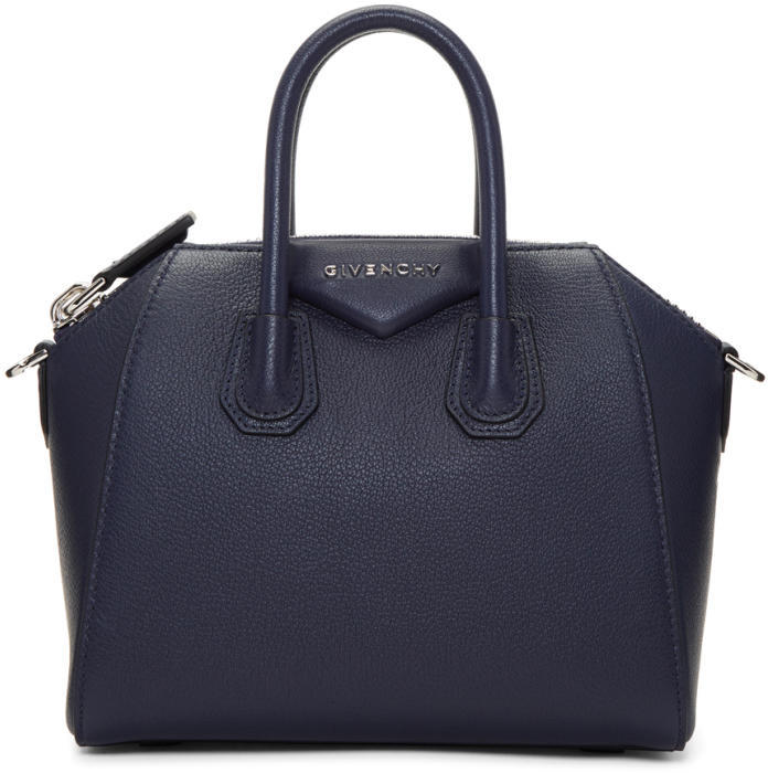 Givenchy Navy Mini Antigona Bag