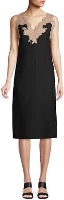 Valentino Abiti Donna Lace-Trim Shift Dress