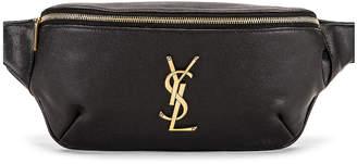 e65c67220c Saint Laurent Classic Leather Monogramme Belt Bag in Black   FWRD
