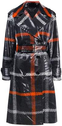Marc Jacobs plaid print belted trench coat
