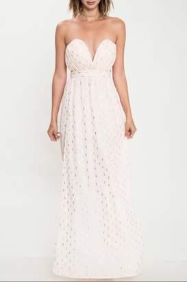 Latiste Strapless Peach Dress