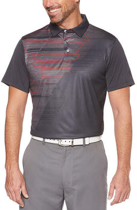 PGA Tour TOUR Easy Care Short Sleeve Argyle Polo Shirt