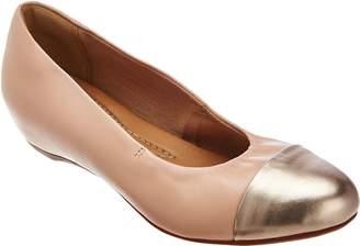 Clarks Artisan Leather Cap Toe Slip-on Flats - Alitay Susan