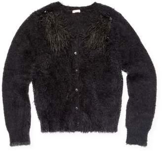 Billieblush Crewneck Faux Fur Sweater