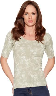 M&Co Floral print scoop neck t-shirt
