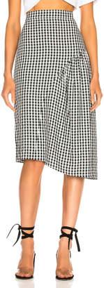 Tibi Boatneck Midi Skirt