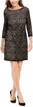 Jessica Howard Sequined Lace Shift Dress