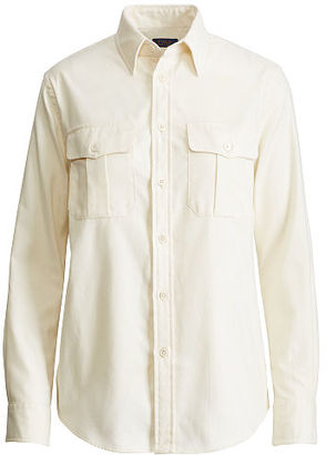 Polo Ralph Lauren Cotton Twill Military Shirt $125 thestylecure.com