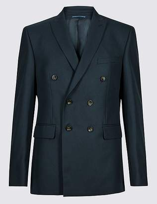 Marks and Spencer Navy Tailored Fit Jacket