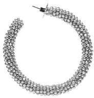 Sachin + Babi Glass Beaded Hoop - Silver