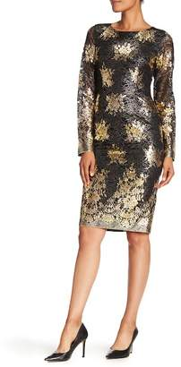 Nicole Miller Metallic Lace Cocktail Dess