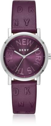 DKNY Soho Purple Leather Women's Watch