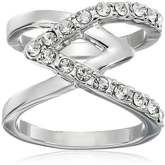 "GUESS Basic"" Criss Cross with Stones Ring"