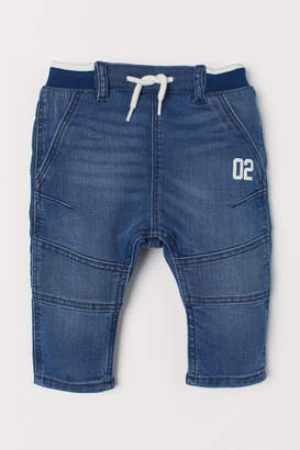 H&M Denim Pull-on Pants - Blue
