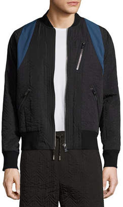 MCM x CR Collection Quilted Bomber Jacket