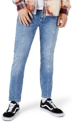 Men's Topman Panel Stretch Skinny Fit Jeans $85 thestylecure.com