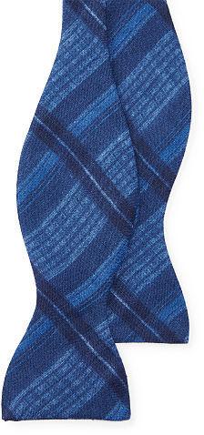Polo Ralph LaurenPolo Ralph Lauren Plaid Linen Butterfly Bow Tie