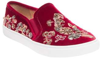 Betsey Johnson Ellie Beaded Velvet Sneaker