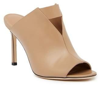 Via Spiga Mira Leather Peep Toe Sandal