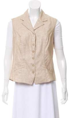 Anne Fontaine Tailored Linen Vest