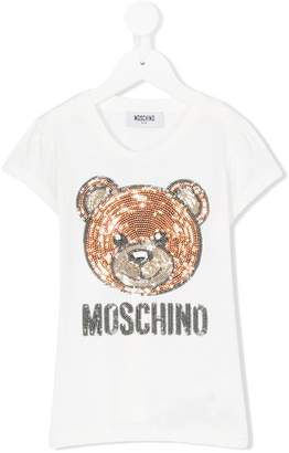 Moschino Kids sequinned bear T-shirt