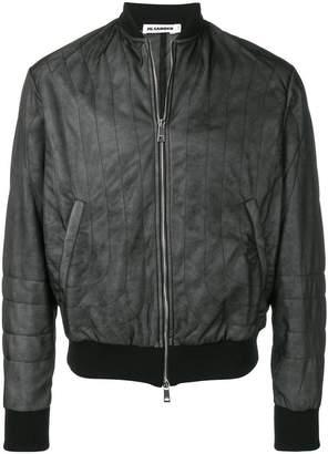 Jil Sander fitted bomber jacket