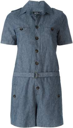 A.P.C. belted playsuit