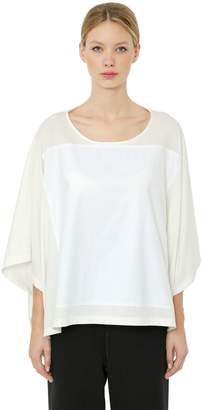 MM6 MAISON MARGIELA Squared Basic Cotton Jersey T-Shirt