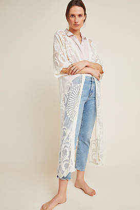 Anthropologie Angelica Lace Duster Kimono