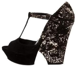 Rachel Zoe Suede T-Strap Sandals
