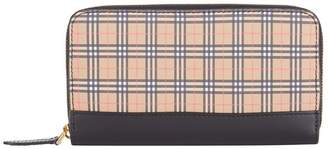 Burberry Small Scale Check Leather Wallet