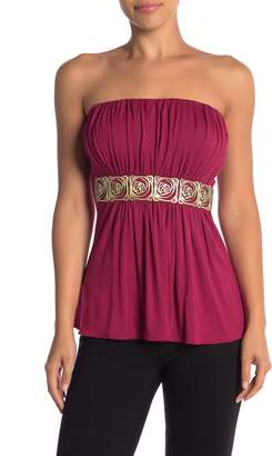 Sky Amyas Embellished Strapless Top
