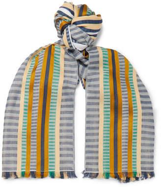 Missoni Fringed Striped Cotton and Silk-Blend Scarf - Men - Multi
